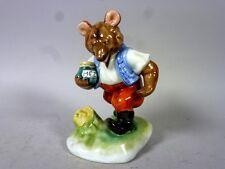 """Herend: Schöne Porzellanfigur """"Bär mit Honigtopf"""" - Handmalerei    8QL2360"""