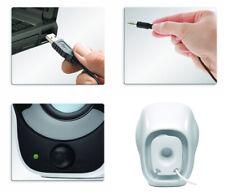 White Logitech Z120 Mobile Portable Compact Stereo 2.0 Speakers Power via USB