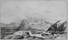 SCHIFFE VOR PATRAS GRIECHENLAND GRECE HELLAS PATRA ΠΆΤΡΑ ORIGINALSTICH 1835