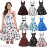Vintage Retro Swing 50s Housewife Rockabilly Pinup Party Prom Dress Plus Size