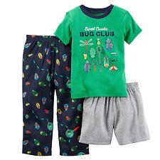 NEW Carter's Baby Boy 3 Piece Pajama Set PJ Cotton - BUG CLUB - Size 12 Months