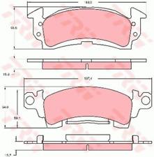 TRW Bremsbelagsatz, Scheibenbremse GDB742 für BUICK CADILLAC CHEVROLET PONTIAC
