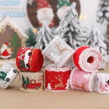 Christmas Fabric Ribbon Ornament Xmas Gift Wrapping Handicraft DIY Supplies