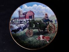 "DANBURY MINT - Days Of Splendor "" Farmland Memories "" Plate   John Deere Tractor"