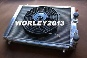 Aluminum radiator + fan for Lancia Delta HF Integrale 8V 16V EVO 2.0 Turbo 87-95