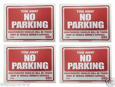 "4 Sign- Two Away No Parking -  Plastic Size: 9""x12""  4pcs"