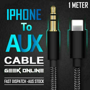 For iPhone to 3.5mm Aux Audio Adapter Cable Cord Jack iPhone 12 11 Pro 8 7 Plus