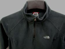 THE NORTH FACE WOMEN'S BLACK LIGHT FLEECE PARTIAL ZIP PULLOVER JACKET SZ MED