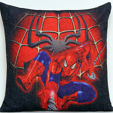 New Red Spider-Man Children Boys Kids Linen Throw Pillow Case cushion cover YSC1