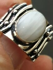 millionaire gorgeous stunning high-class moonstone ladies ring size 8.5