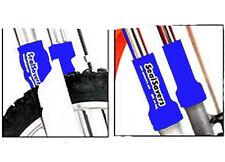 Fork Skins Fork Seal Savers Skins Short  44mm-50mm Sleeves PC Racing Pair BLUE