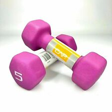 NEW SET OF 2 CAP Hex Neoprene 5 lb Pound Dumbbell Pair 10 Lb Total Weight