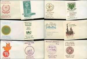 PAKISTAN 1960-70s 20 ILLUSTRATED ENVELOPES for FDCs PRINTED PAKISTAN PO Lot 2