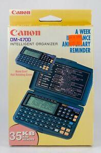 Vintage Canon DM-4700 Data Management Calculator Electronic Organizer Brand New