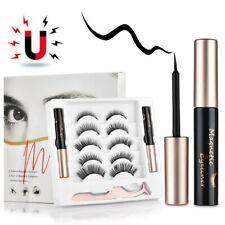 Magnetic False Eyelashes Magnet Eyeliner Mink Fake Eyelash Waterproof 5 pairs