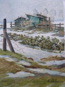 Clemens Prüssen 1888-1966 Eifel - Winterlandschaft