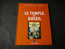 LES ARCHIVES TINTIN LE TEMPLE DU SOLEIL EDITION DE MOULINSARD
