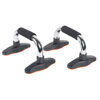 Pair of 2 Push Up Bars Push Up Stands Foam Grip Fitness Workouts Gym in Home