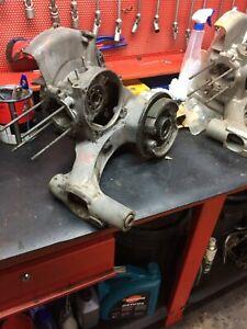 Carter motore vespa px 125 con  saldatura vicino attacco ammortizzatore