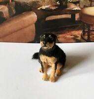 ROTTWEILER Dollhouse realistic OOAK miniature 1:12 handsculp.handmade