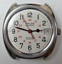 1970's Wyler Railroad Approved Electronic Tuning Fork Wristwatch for repair