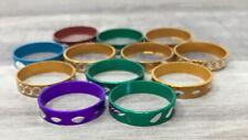 Colorful Metallic Aluminum Children's Ring Lot of 144 Vintage Bulk US SELLER