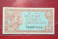US SERIES 611 25 CENTS MPC MILITARY PAYMENT CERTIFICATE