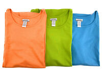 Lot 3 Jessie Womens TShirts Orange Green Blue Plus Size 2X Short Sleeves Cotton
