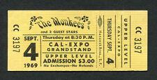 1969 Hey Hey We're The Monkees unused full concert ticket Daydream Believer