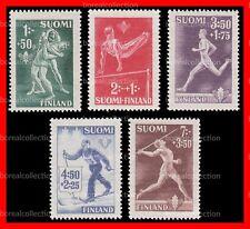 FINLAND MNH 1945 Sport Stamps Complete Set Scott B69-73
