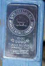 10 oz ROYAL CANADIAN MINT .9999 FINE SILVER BAR  hr