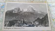 Berchtesgaden mit Watzmann 2713m AK Postkarte 1193