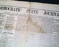 Rare DAYTON Columbia County Washington Territory OLD WEST 1883 Newspaper