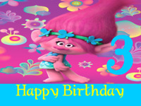 """15 Trolls Labels 2.675""""x2"""" Birthday Favor Stickers Personalized"""