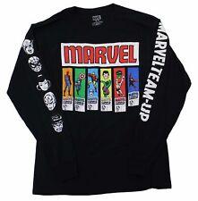 Marvel Comics Group Spider Man Hulk Iron Man Captian America Vintage T-Shirt Tee