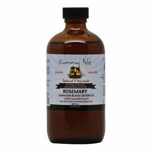 Sunny Isles Rosemary  Jamaican Black Castor Oil 4 oz 100% Natural