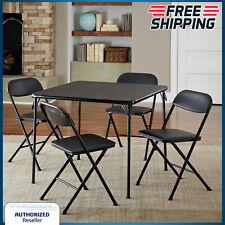 5-Piece Folding Dining Set Kitchen Card Game Craft Party Table Foam Pad Chairs
