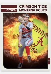 Montana Fouts Alabama Crimson Tide Softball Handmade Card