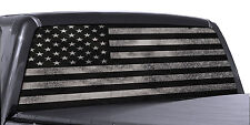 Truck Rear Window Decal Black & White Distressed American Flag Vinyl Wrap