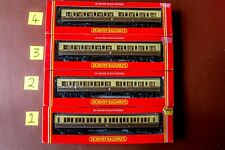 More details for rake of 4 hornby gwr clerestory brown & cream coaches boxed unused r484