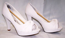 New Unlisted Strappy White Platform Heels, Size 12