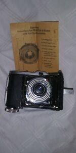 Balda Baldinette folding camera with case. Prontor-S-shutter untested.    (1)