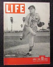 1946 April 1 LIFE Magazine VG+ 4.5 Charles Red Barrett St. Louis Cardinals