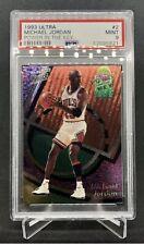 1993 Ultra Power In The Key Michael Jordan #2 PSA 9 Chicago Bulls Rare Insert 🔥