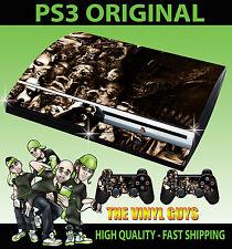 PLAYSTATION PS3 Etiqueta Original Horror Collage Sepia villano de la piel y 2 Pad Skins