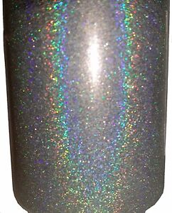 Silver Holographic .004 True Ultra Fine Nail Glitter Art Dust Powder DIY Polish!