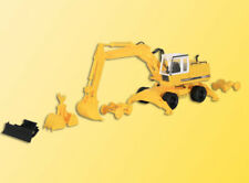 Kibri Kit 11264 NEW HO LIEBHERR 922 WHEELED EXCAVATOR WITH ATTACHMENTS
