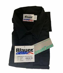New Blauer Streetgear 8701 Long Sleeve Black Shirt 2XL Free US Shipping
