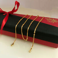 22 Kt Solid Yellow Gold Curb Cuban Necklace Chain 9 Grams 18''L (All Sizes)