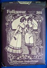 Folkwear Sewing Pattern Edwardian Underthings 203 Camisole Petticoat Drawers